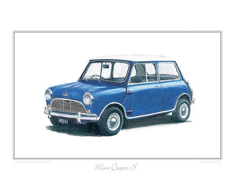 Mini Cooper S (blue) Car print