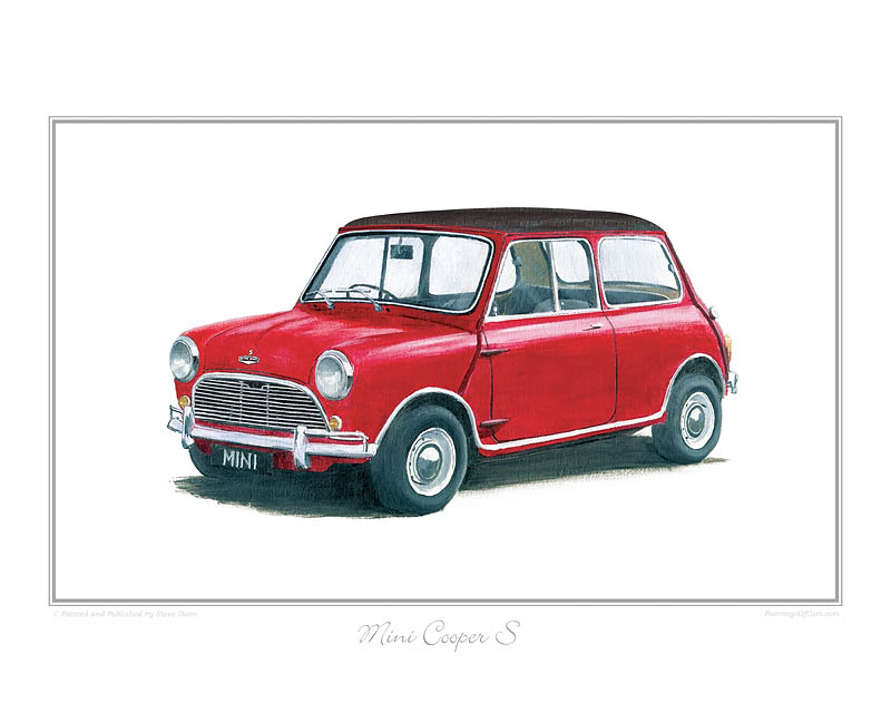 Mini Cooper S red/blk Car print