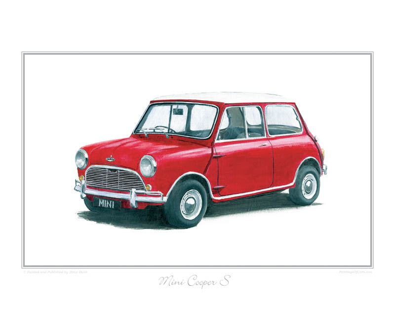 Mini Cooper S (red) Car print
