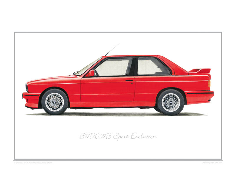BMW M3 Sport Evolution Car print