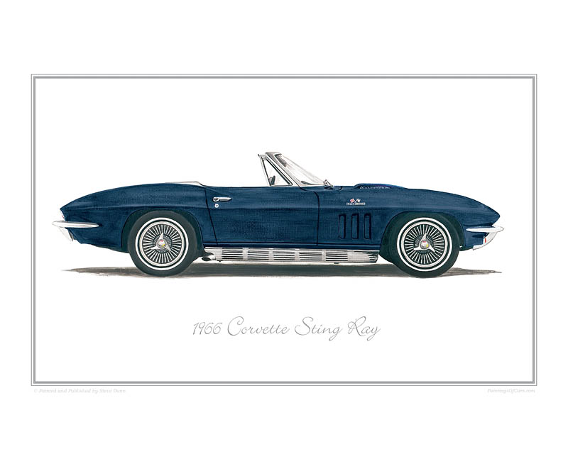 Corvette Sting Ray Car Art Print