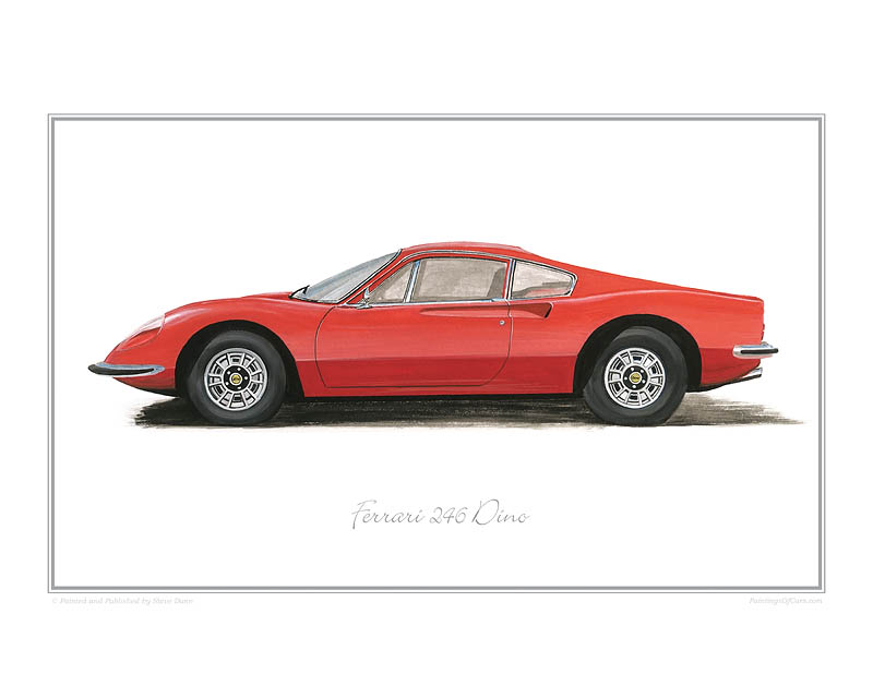 Ferrari 246 Dino Car Art Print