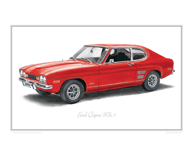 Ford Capri Car print