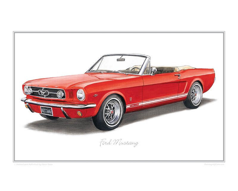 Ford Mustang Gt >> Ford Mustang Print