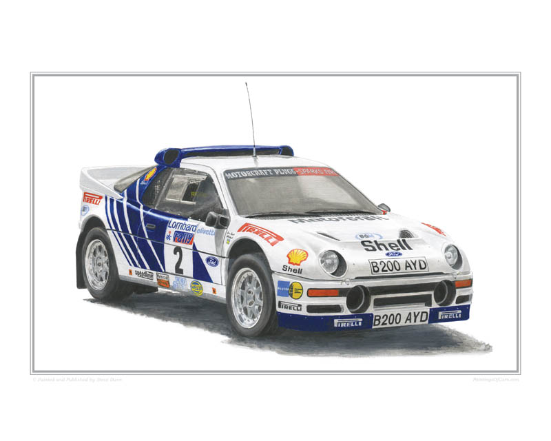 Ford RS200 Rally Car print