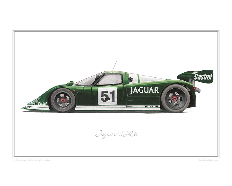 Jaguar XJR-6 Car print