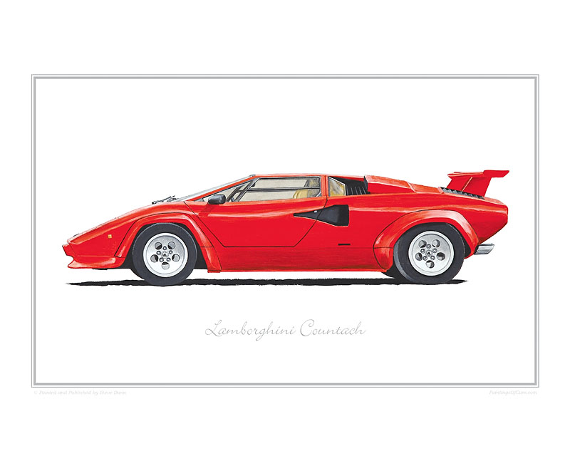Lamborghini Countach Car print