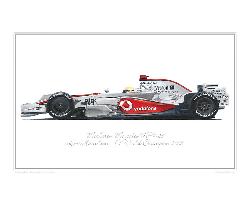 McLaren Mercedes F1 racing car print