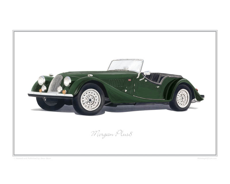 Morgan Plus 8 Car print
