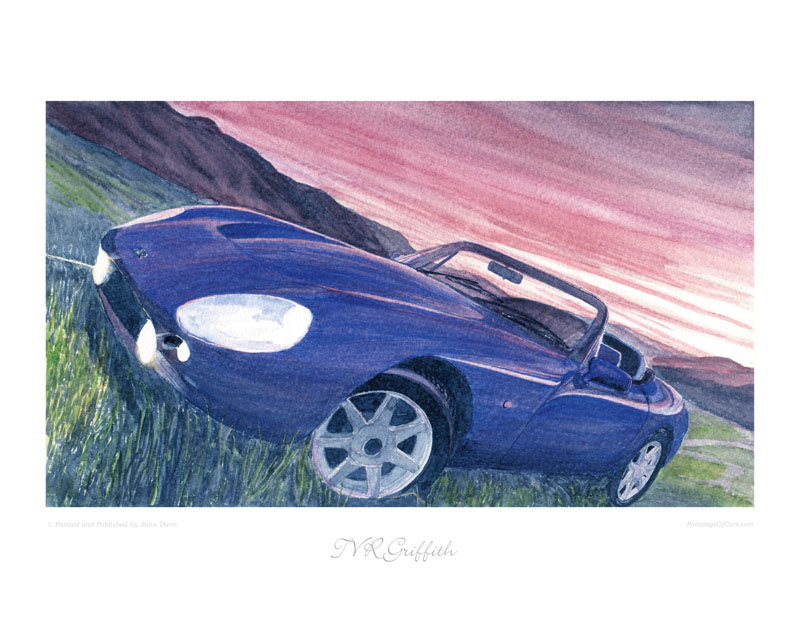TVR Griffith Car print