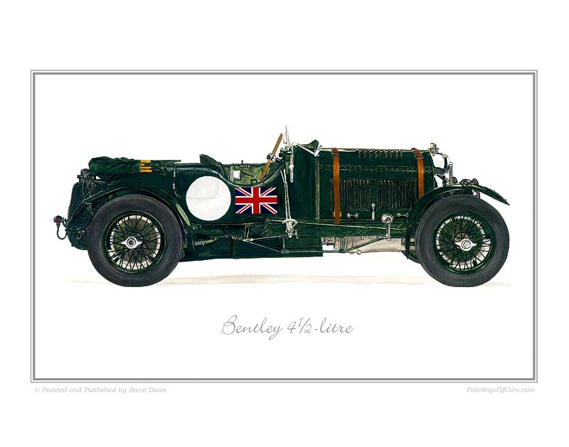 Bentley 4 1/2-litre Car print