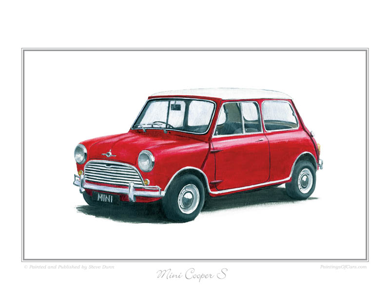 Classic Mini Cooper Print