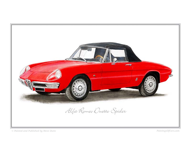 Alfa Romeo Duetto Spider Car print