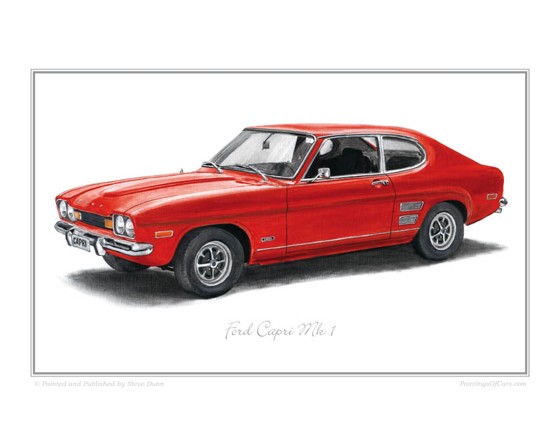 Pictures Of Cars >> Ford Capri Print