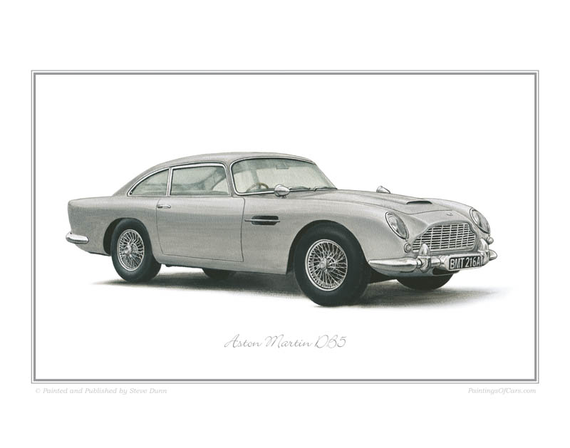 Aston Martin DB5 Car print