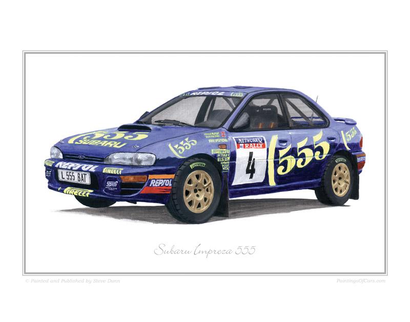 Subaru Impreza 555 Wrc Rally Car Print
