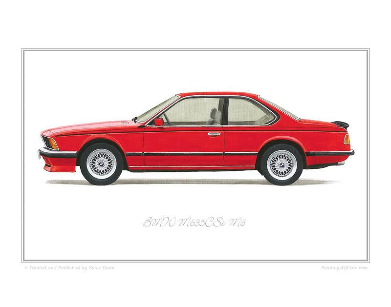 Bmw M635csi M6 Art Print
